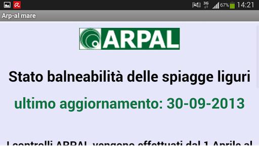 Bagnanti Informati - ARPAL