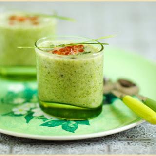 Broccoli Soup and Salmon Eggs