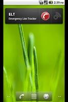 Screenshot of Emergency Live Tracker