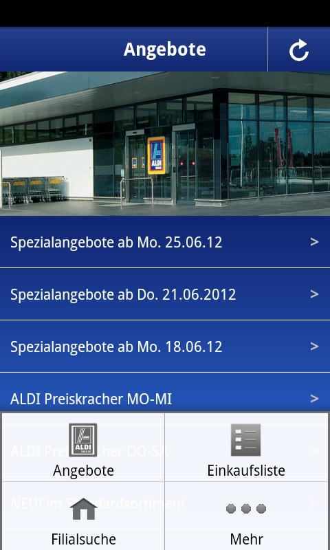 ALDI SUISSE - screenshot