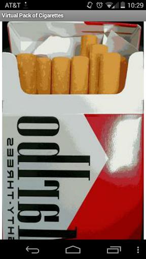 Smoke virtual cigarette pack