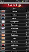 Screenshot of AFL Footy Star 2015