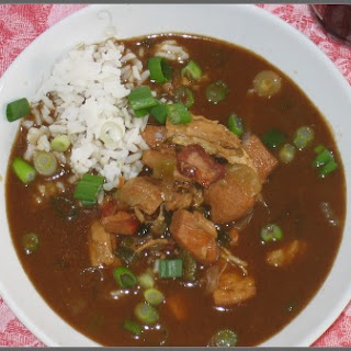 Chicken and Andouille Gumbo.