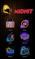 Screenshot of Midnit GO Launcher Theme