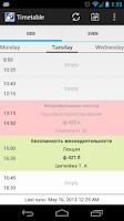 Screenshot of TUSUR Timetable