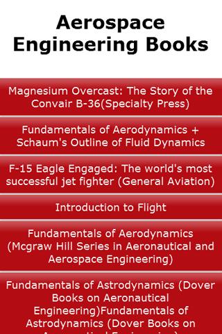 Aerospace Engineering Books
