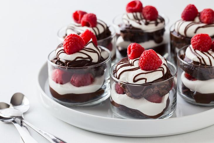 Chocolate Raspberry Brownie Trifles Recipe