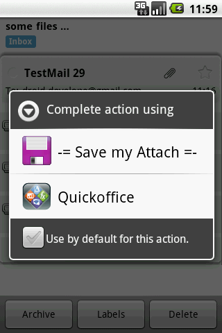 Save my Attach - screenshot