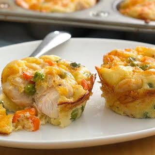 Impossibly Easy Mini Chicken Pot Pies.