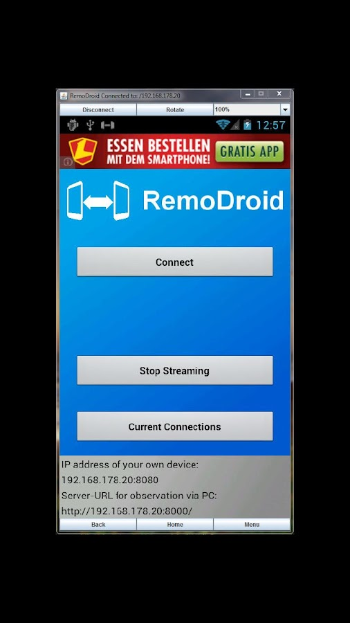 RemoDroid - screenshot