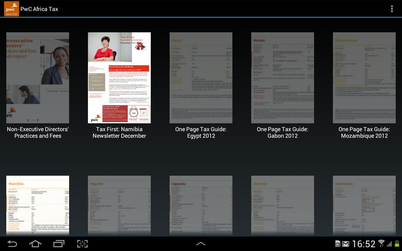 PwC Africa TAX- screenshot