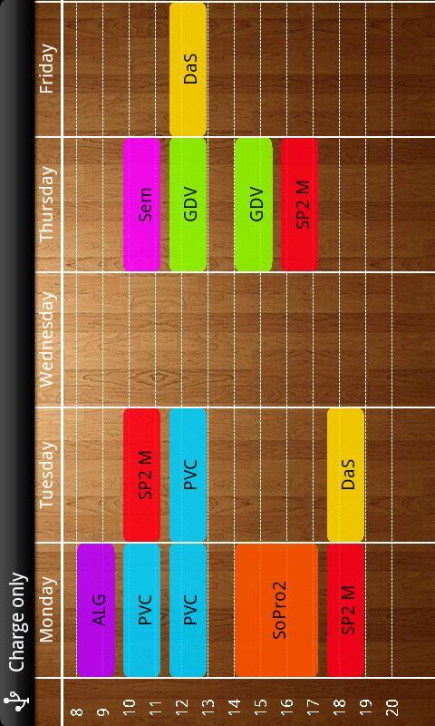 Timetabler Class Schedule - screenshot