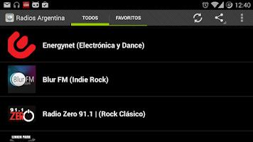 Screenshot of Radios Argentina
