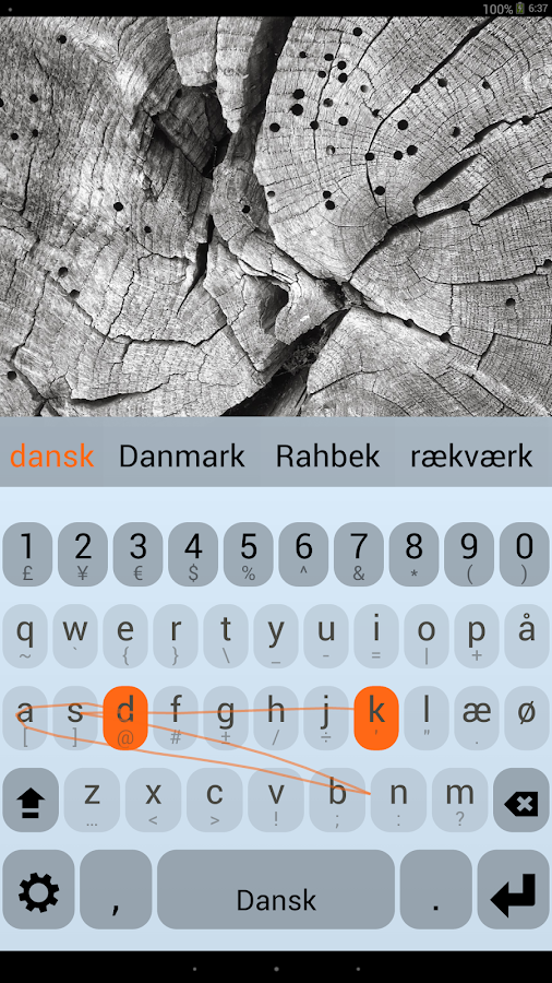Danish Keyboard Plugin - screenshot
