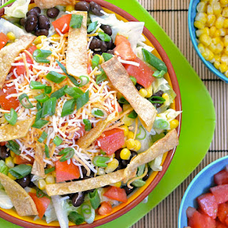 Southwest Salad With Taco Ranch Dressing.