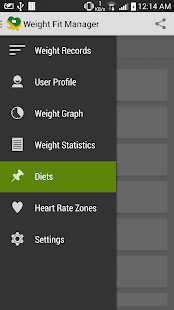 Weight fit Manager tracker