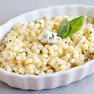 Sauteed Corn with Basil Butter.
