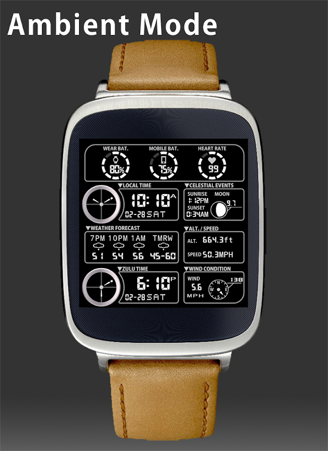 F05 WatchFace for Android Wear