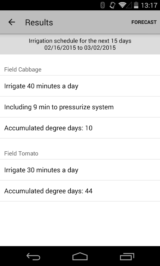 Smartirrigation Vegetable- screenshot
