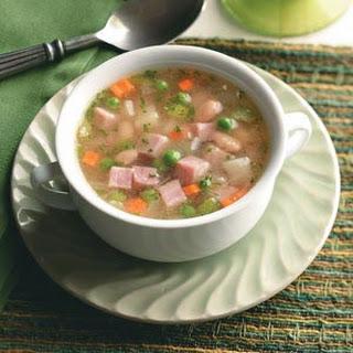 Ham, Bean and Potato Soup.