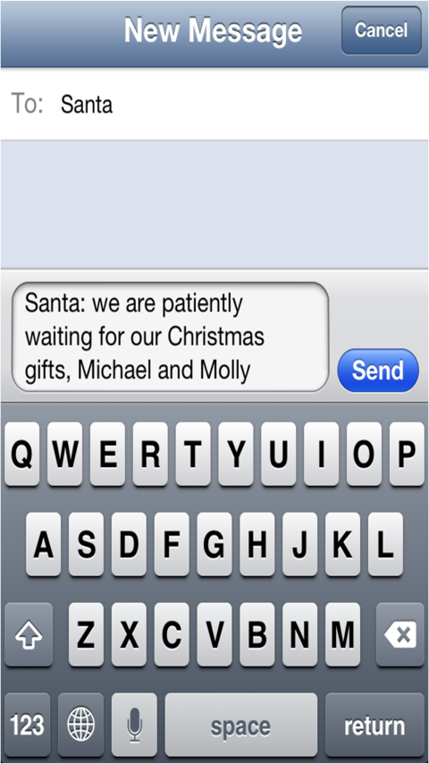 get santa text is a cool way for your kids to text santa claus ...
