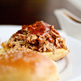 Pulled Pork Sandwiches with Homemade Wild Pork Sauce.