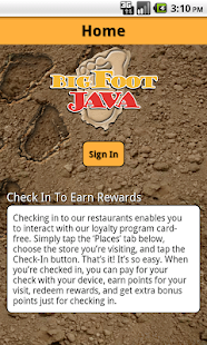 BigFoot Java Rewards- screenshot thumbnail