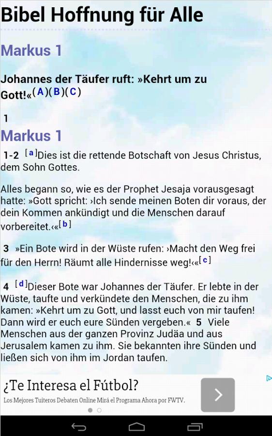 Die Bibel Hoffnung für Alle - screenshot