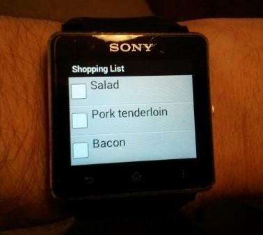 Smartwatch Shopping List - screenshot