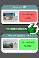 Screenshot of Top Cards - Cidades do Brasil