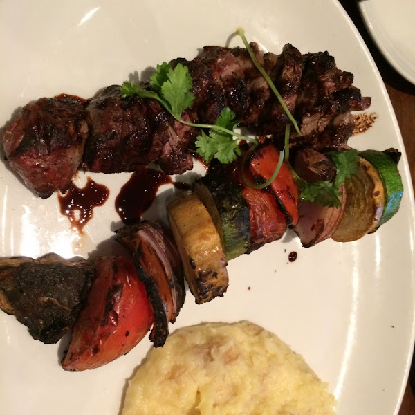 Steak kabobs! Yummy!