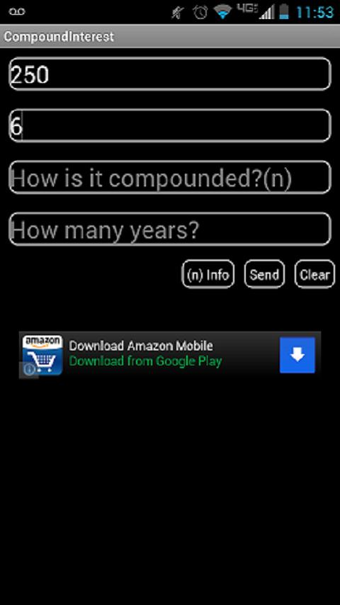 Compound Interest Calculator - screenshot