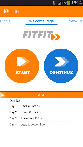 FitFit Gym Fitness Notebook
