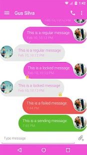 Evolve SMS Theme - Pink Dip - screenshot thumbnail