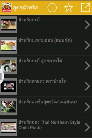 สูตรน้ำพริก สูตรอาหารไทย