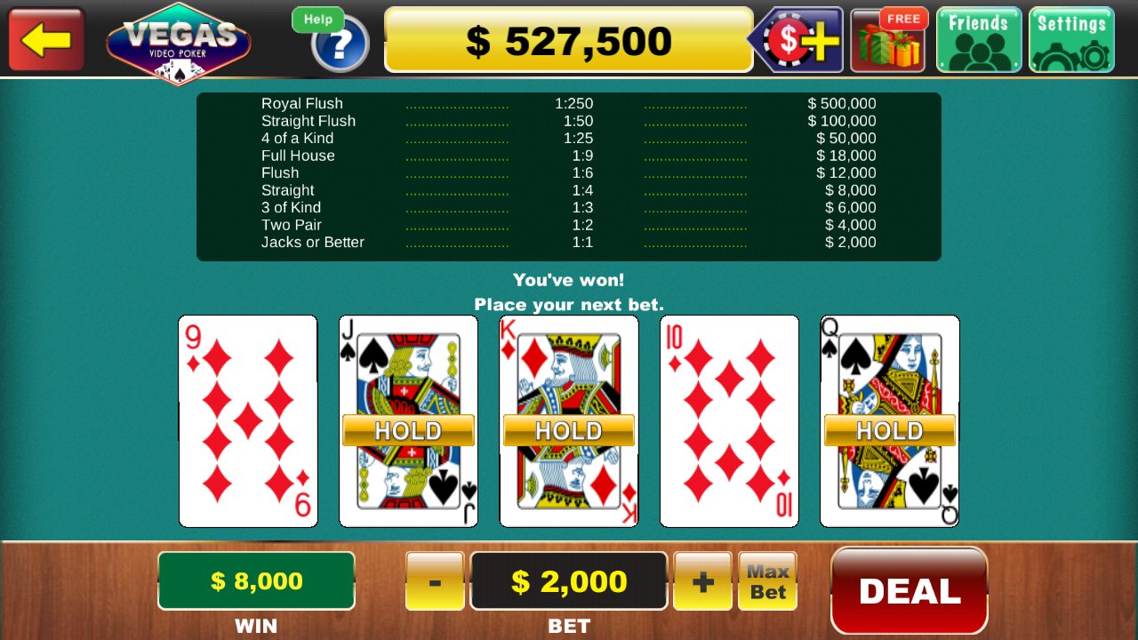 How to play video poker in vegas