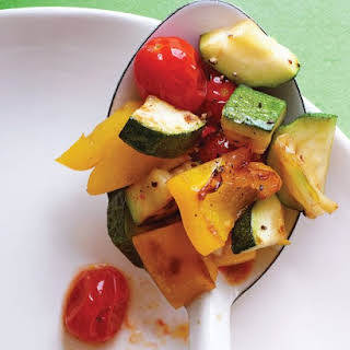 Sauteed Zucchini, Peppers, and Tomatoes.