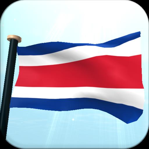 Costa Rica Flag 3D Free