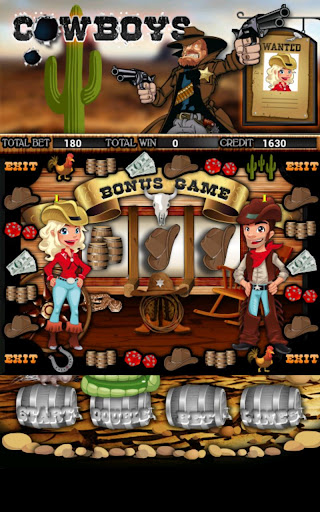 Cowboys Slot Machine HD Screen Capture 3