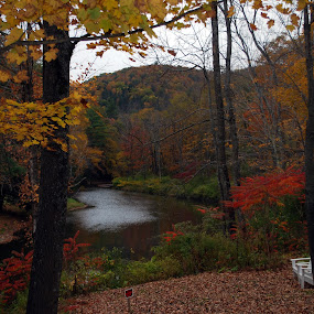 river peace by James Meyer - Landscapes Waterscapes ( fall, color, colorful, nature )