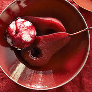 Spiced Wine-Poached Pears