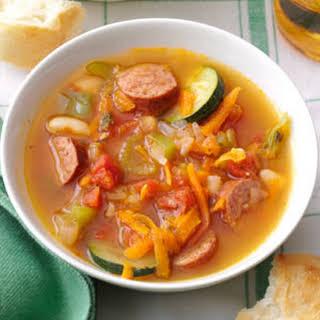 Spicy Kielbasa Soup.