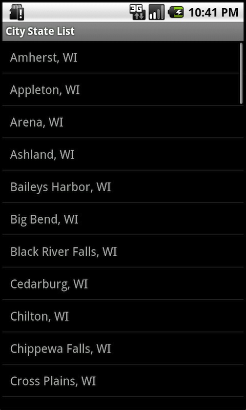 Wisconsin Brewery Finder Phone- screenshot
