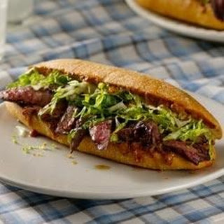 Grilled Steak Sandwiches with Steak Sauce Mayonnaise and Romaine.