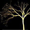 Draw art of plasma trees color icon