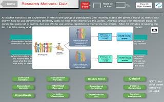 Screenshot of Psyc Test Hero Tablet