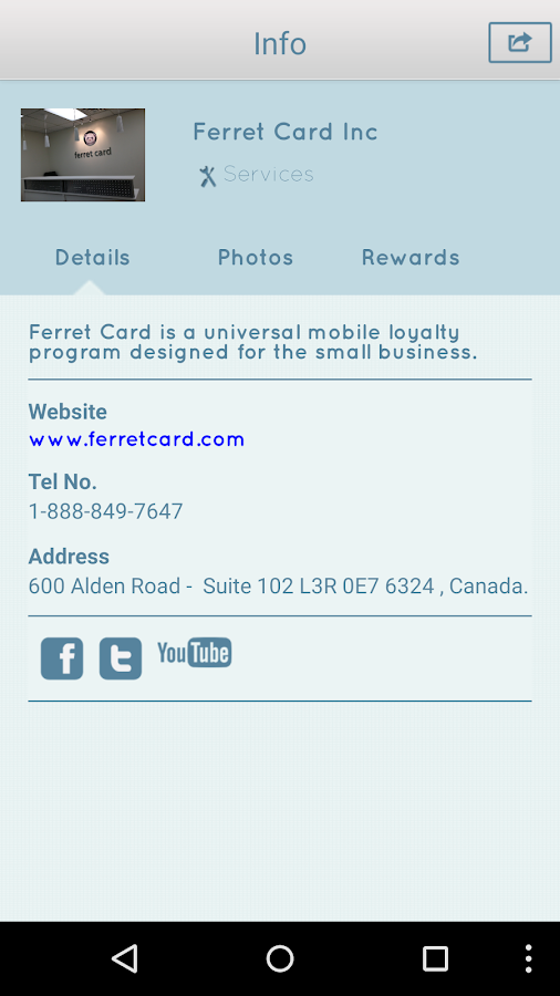 Ferret Card- screenshot