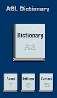 Screenshot of ASL Dictionary