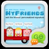 GO SMS Pro Friends Popup Thx