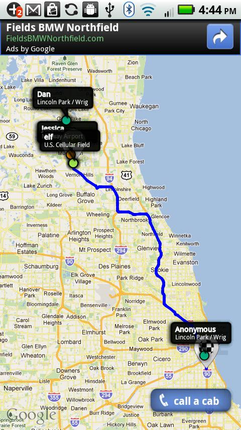 Taxi share - Chicago- screenshot